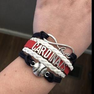 Unisex bracelet professional baseball cardinals